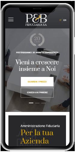P&B Fiduciaria Sito Web Strategico Polyplus Lab Lugano