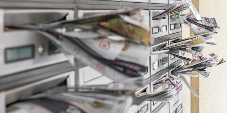 Niente pubblicità per favore. Basta brochure e volantini per posta!